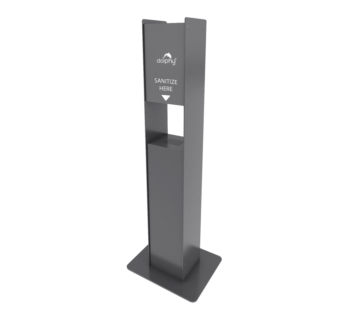 MS Powder Coated Free Stand for Automatic Sanitizer Dispensers