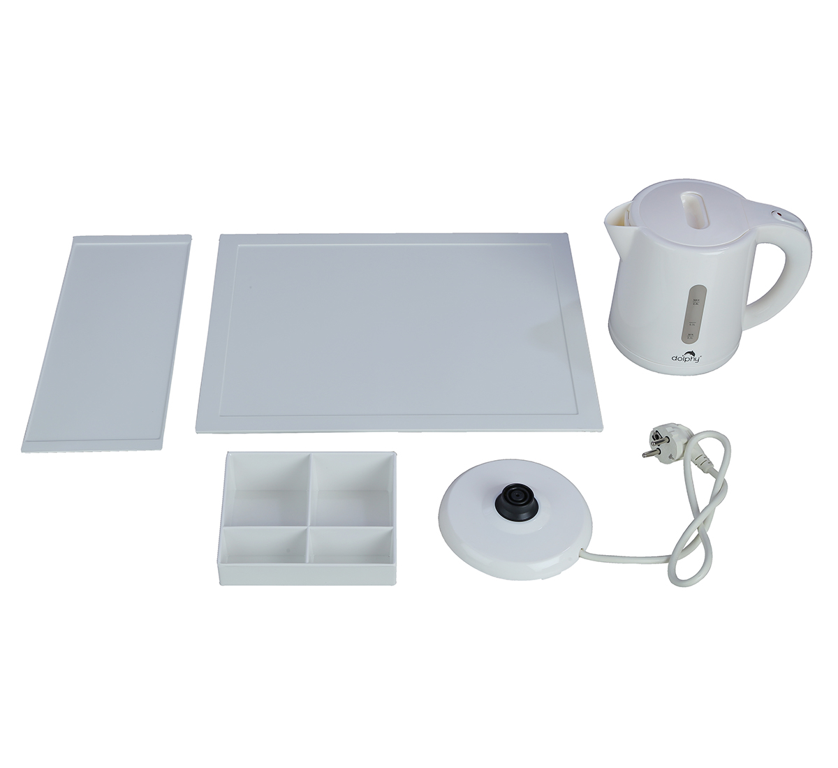 Electric Kettle with Tray Sets White-DKTL0004
