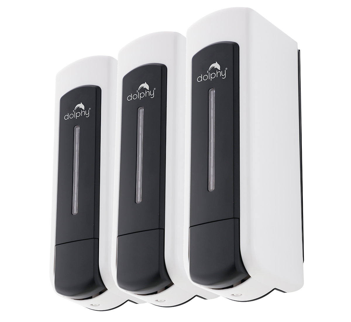 ABS Soap Dispenser Set of 3 Black