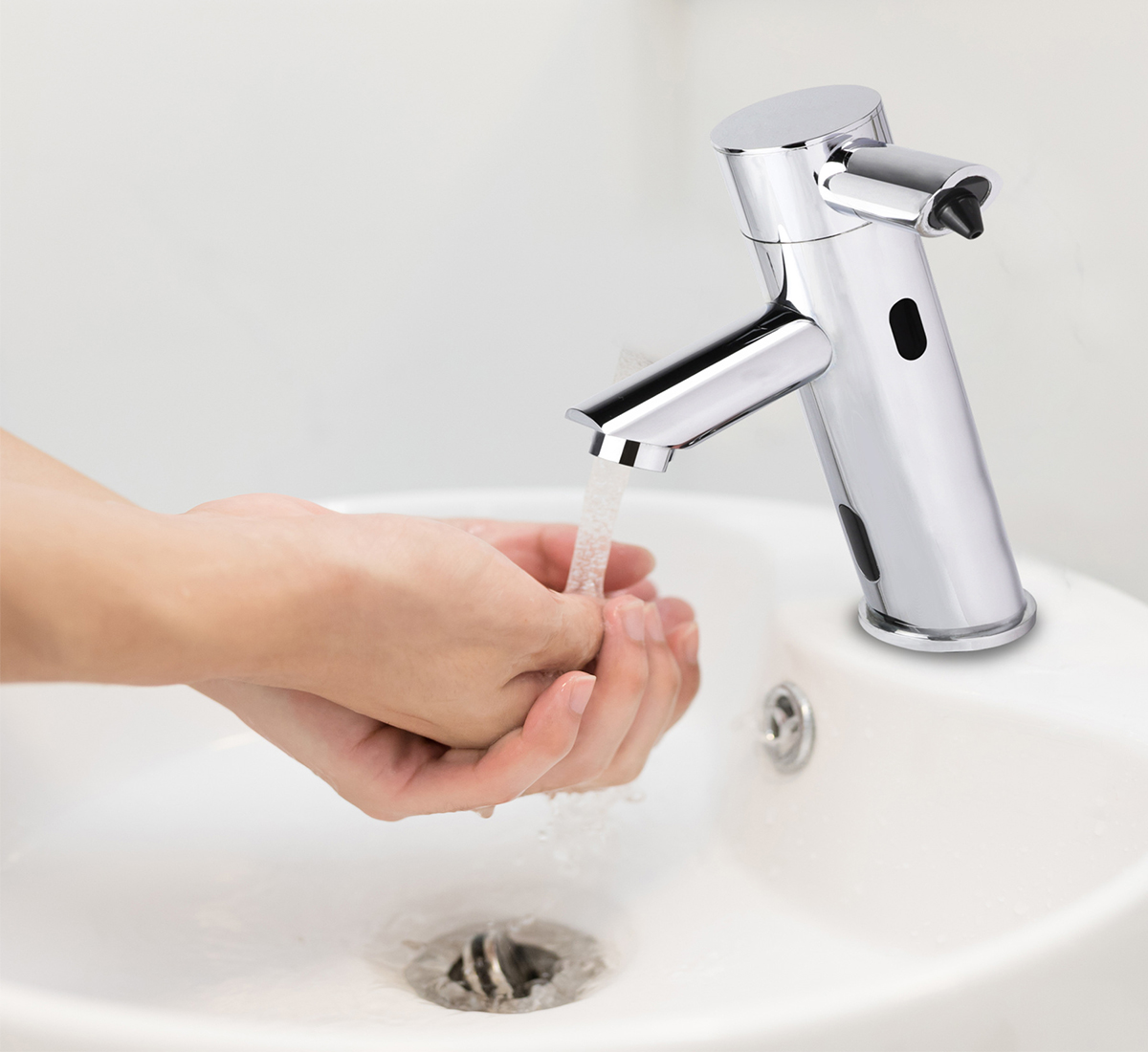 2 in 1 Stainless Steel Automatic Sensor Tap with Automatic Soap Dispenser