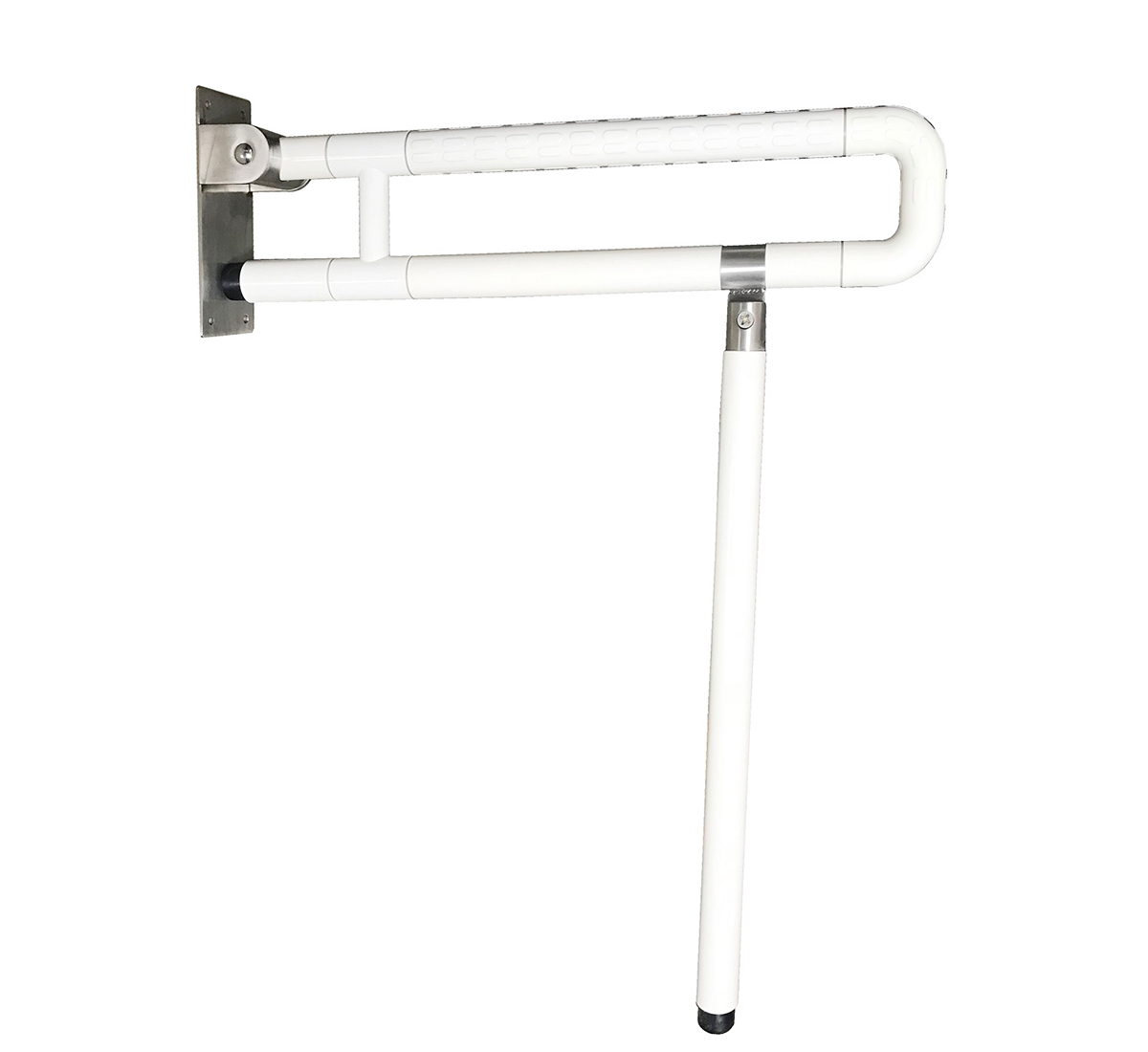 304 SS TUBE COATED WITH NYLON FOLDABLE WC HANDICAP GRAB BAR