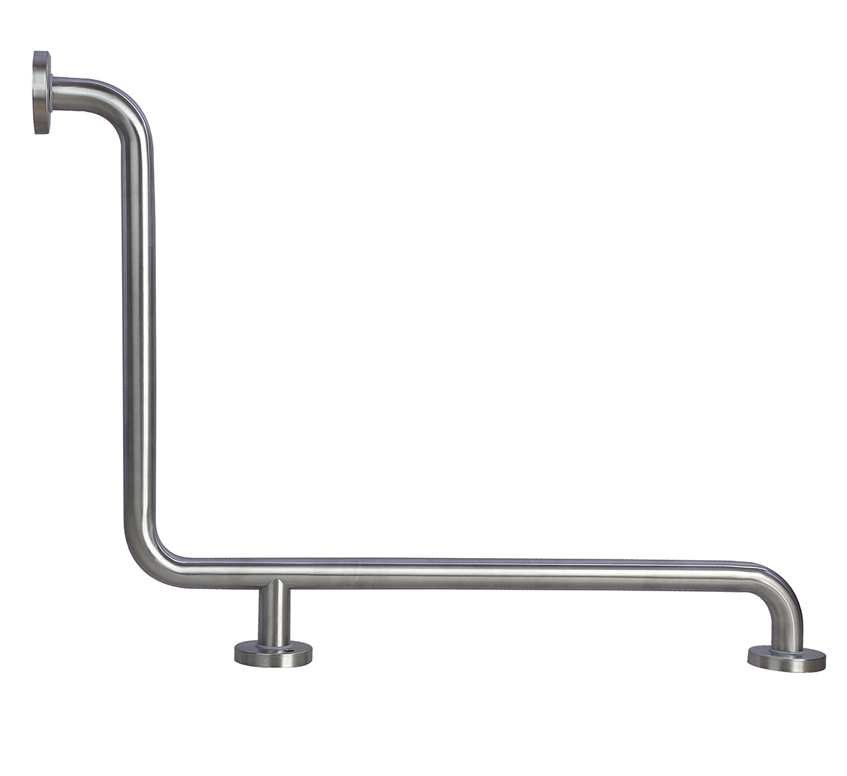 Stainless Steel two wall L-Type Safety Grab bar