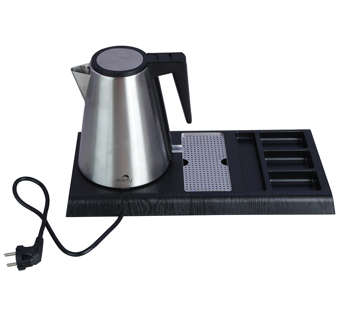 Stainless Steel Electric Kettle with Tray Sets , 1.2 L-DKTL0002