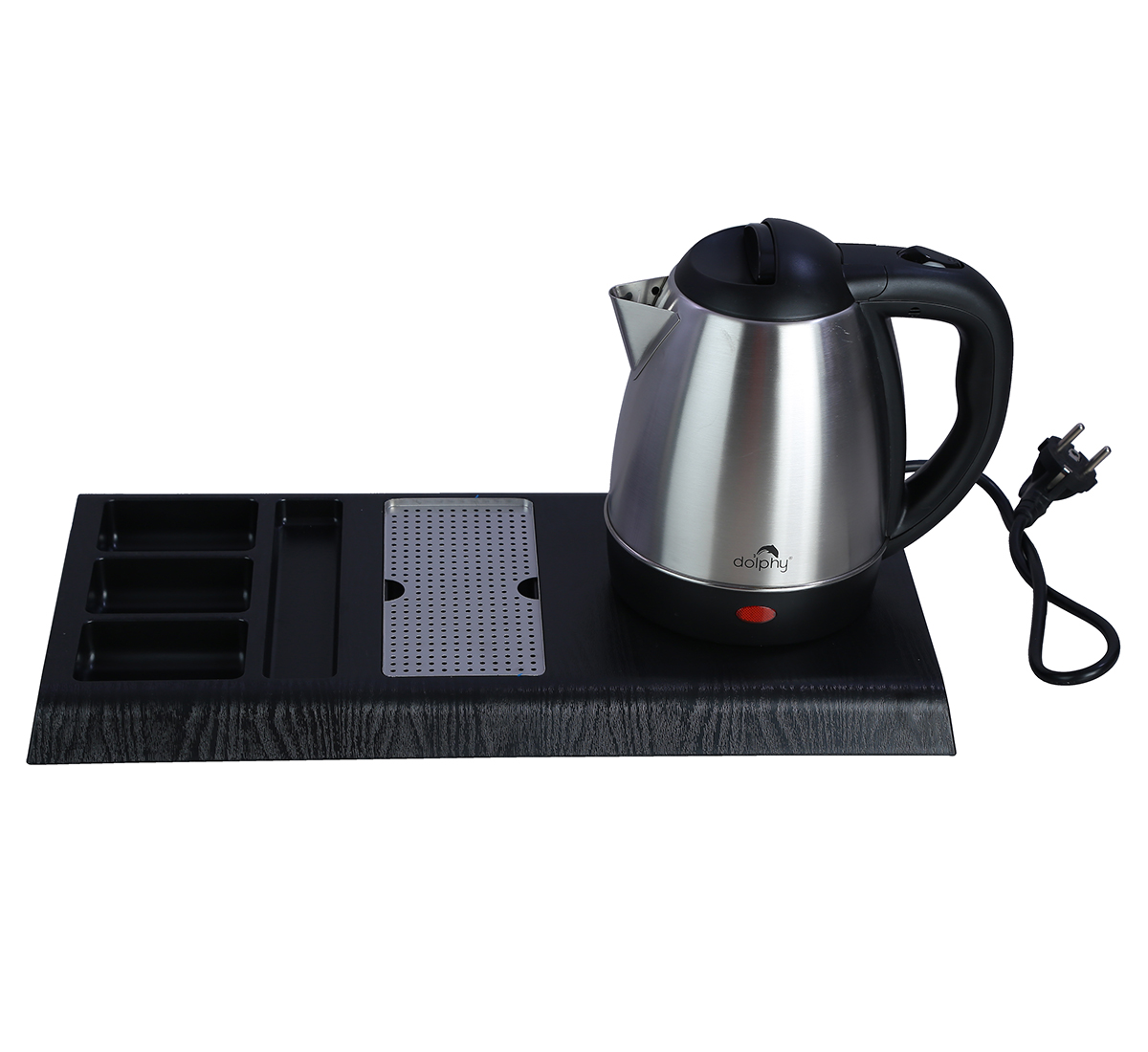 Stainless Steel Kettle with Tray Sets (1.2 Ltr, SIlver)-DKTL0006