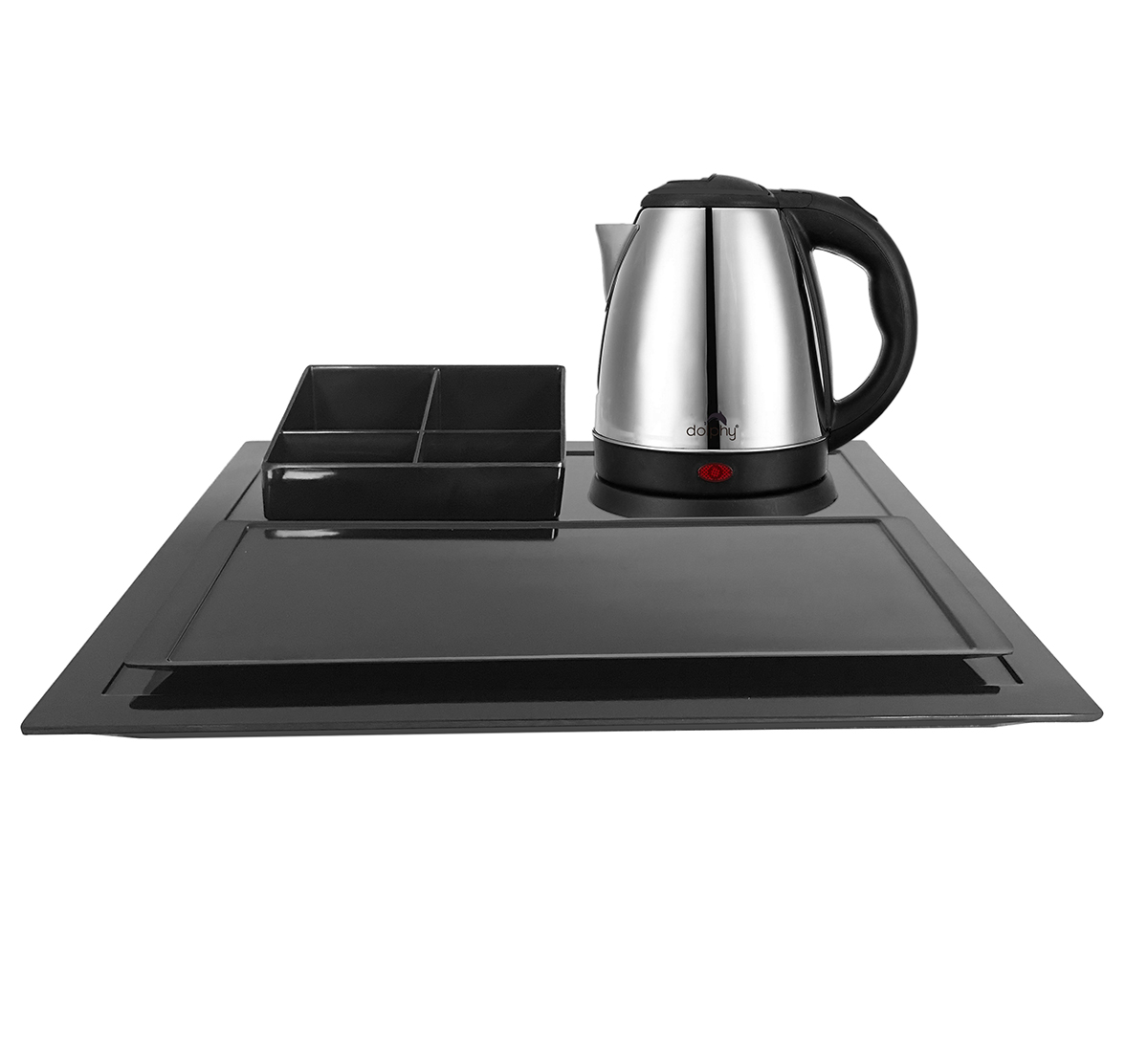 Stainless Steel Kettle with Tray Sets (1.2 Ltr) DKTL0023