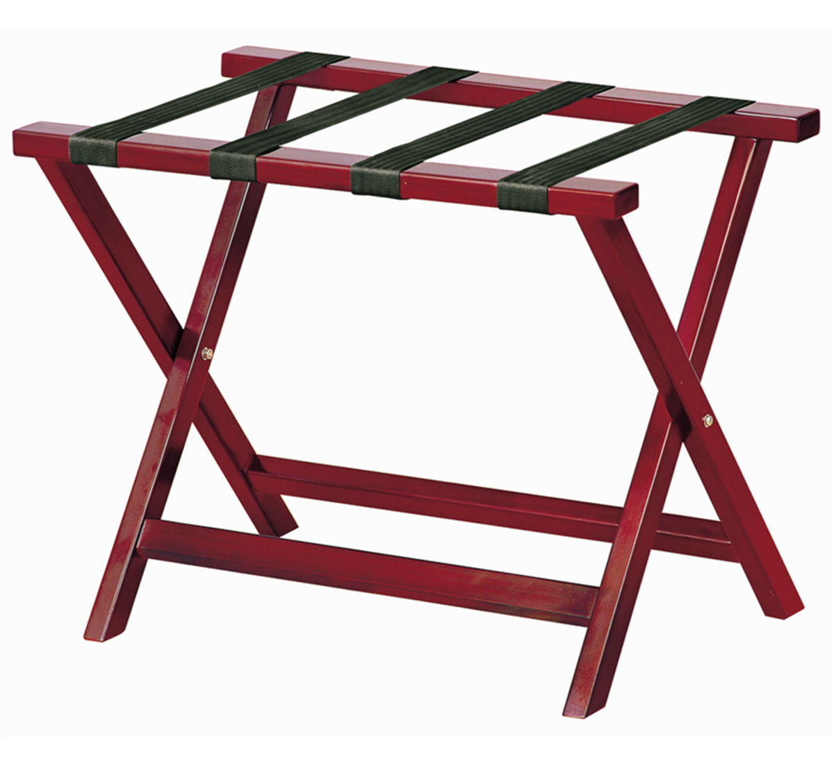 Wooden folding bed room luggage rack (Red cherry)