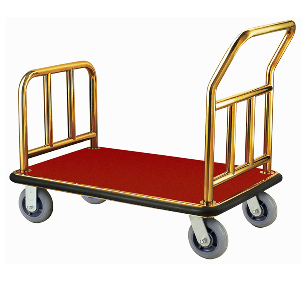 Folded Hotel Luggage Cart
