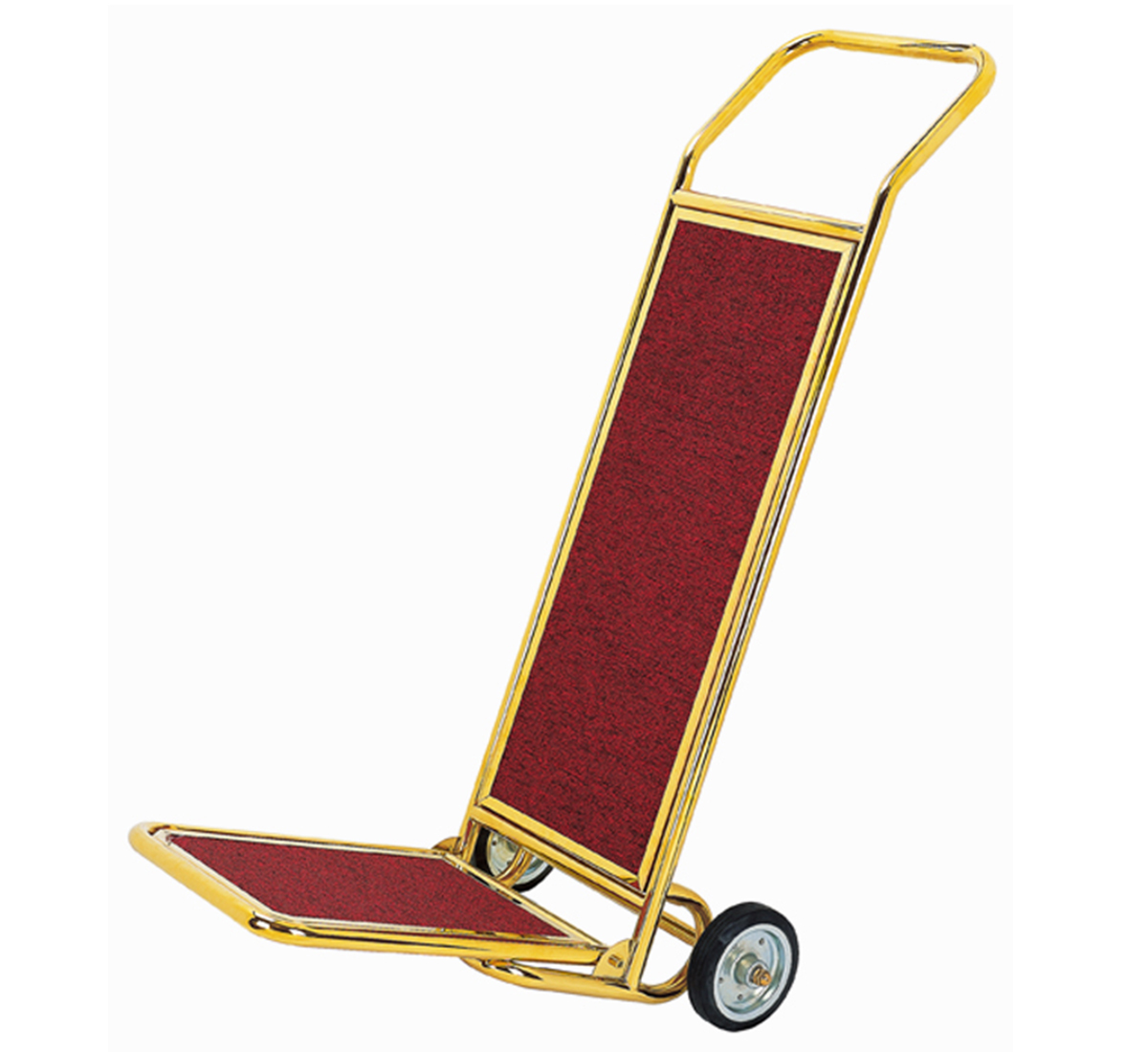 Luxury foldable golden luggage cart