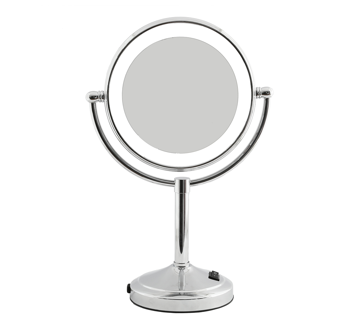 Silver 5X LED Tabletop Mirror