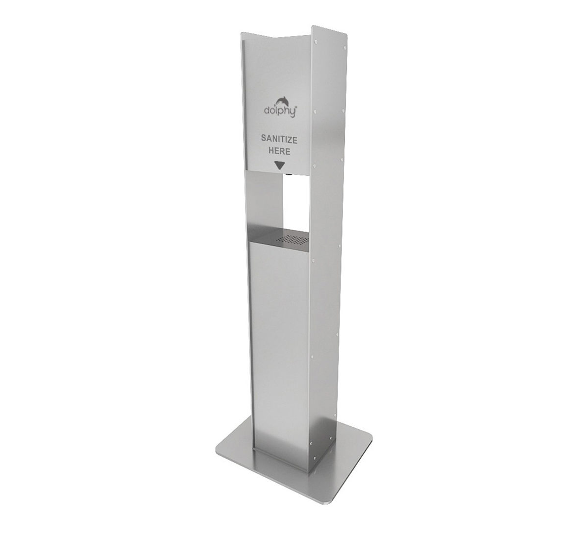 SS 304 Free Standing Cabinet for Automatic Sanitizer Dispenser